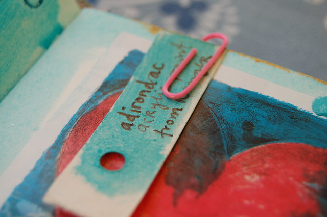 Turquoise paint sample