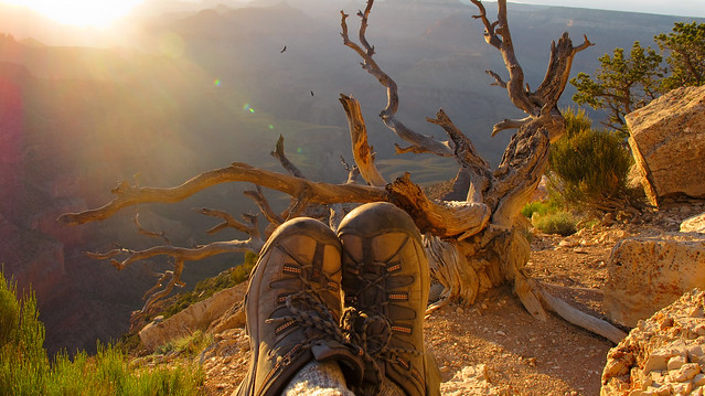 Grand Canyon at Sunset - Boots