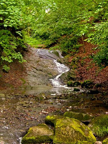 wales waterfall stream powys llandrindod rockpark radnorshire