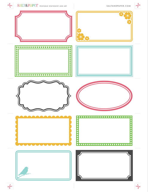 Printable labels from flickr photo for Avery template 48863