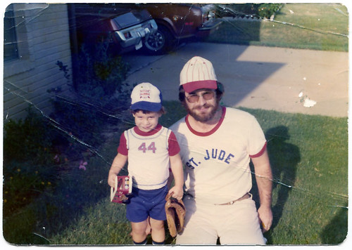 Derek and Dad, July 1975