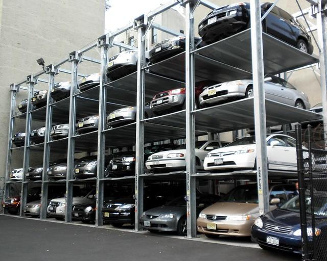Elevator style parking garage east harlem new york city for New york parking garage