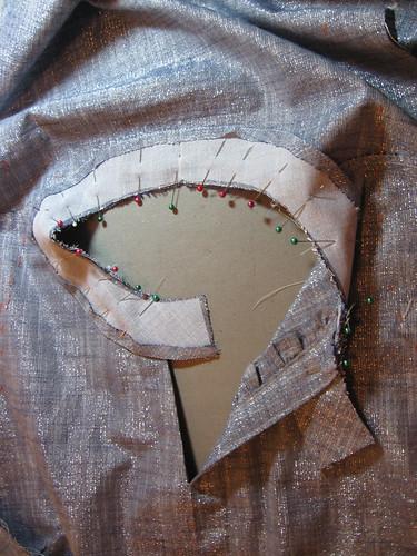 neckband on chambray shirt