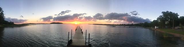 Wahkon Bay at sunset
