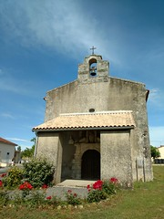 The church at Chamouillac where Madame and Monseur were married in 1949