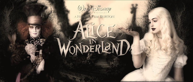 Alice in Wonderland. 2010 film by Tim Burton