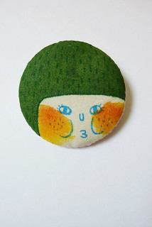 Green Hair Little Chubby Girl Brooch