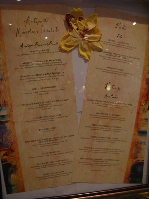 Portofino Restaurant Menu Middletown Ri