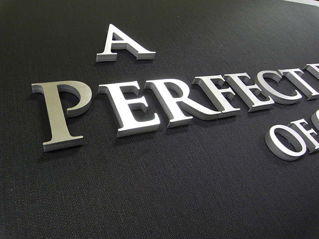 Raised Metal Letters Metal Laminate Letters  Acrylic Laminate Letters  Impact Signs