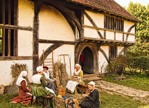 The 15th century Bayleaf Farmhouse at the Weald and Downland Museum