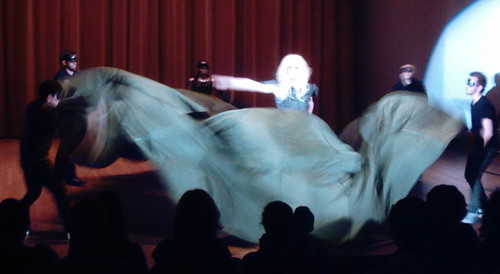 Parachute dress drag performer