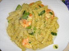 spaghetti(0.0), produce(0.0), carbonara(0.0), fusilli(1.0), thai food(1.0), pasta(1.0), spaghetti aglio e olio(1.0), food(1.0), scampi(1.0), dish(1.0), cuisine(1.0),