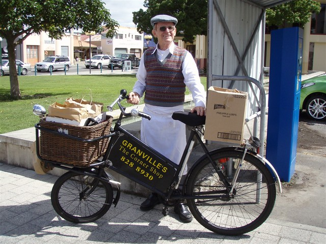 Delivery Man & Bicycle | Flickr - Photo Sharing!