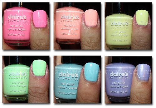 TINAMARIEONLINE: Review and Swatches: Claire's Pastel Nail ...