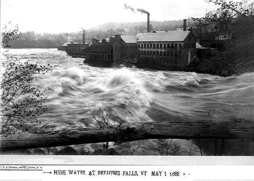 Connecticut River High Water in Bellows Falls Vermont | by Keene and Cheshire County (NH) Historical Photos