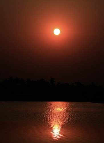 sunset india green art nature beauty digital canon eos rebel golden is kiss zoom bokeh bangalore hour karnataka efs xsi x2 durai bengaluru 450d 55250 durairaj begurlake