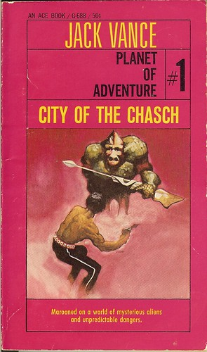 Jack Vance - City Of The Chasch: Tschai, Planet of Adventure:1 - cover artist  Jeff Jones -  1st publication Ace G-688 - 1968