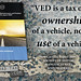 VED on ownership, not use