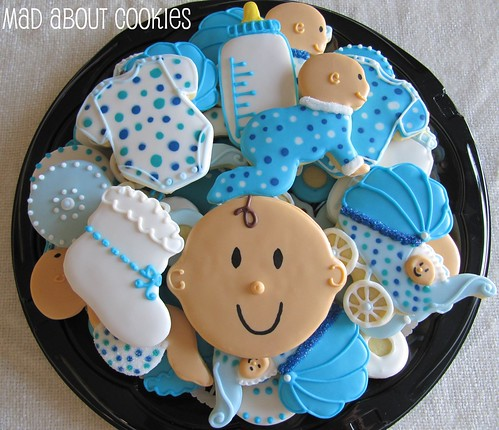 Baby Boy Shower Platter