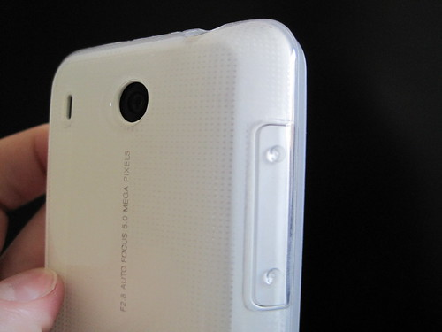 HTC Hero (White) + Flexishield (Clear)