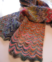 Reversible Chevron Scarf