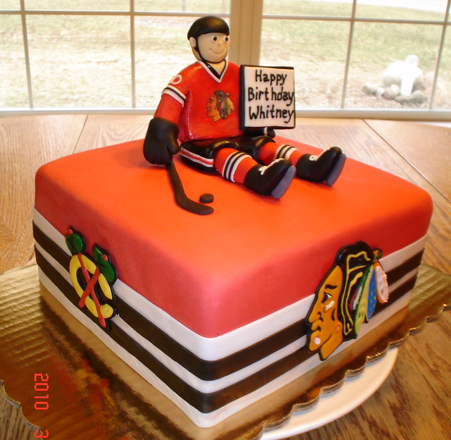 how to make a hockey jersey cake