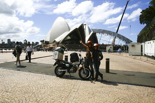Paris Sydney à moto