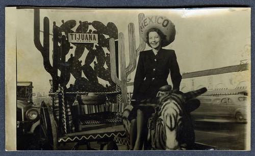 a woman, a sombrero, a zebra: tijuana