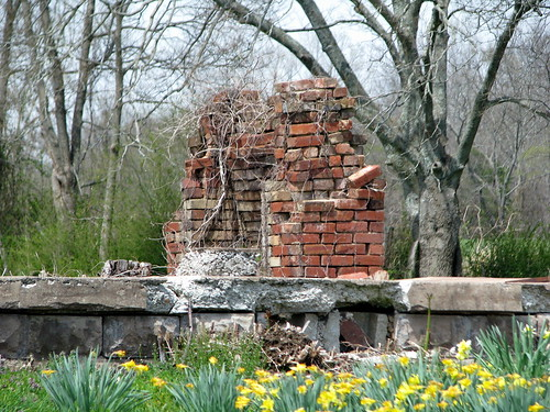 The remains of the Thomas Hart Benton house
