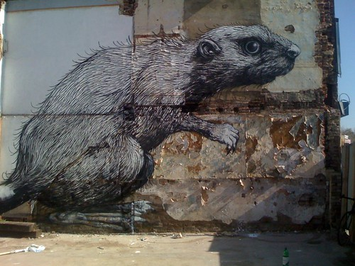 Check out ROA's massive Beaver