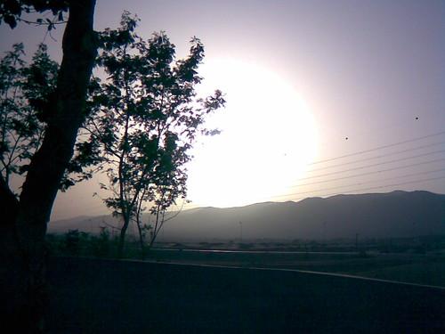 الغروب في جبال  ظفار - أتين
