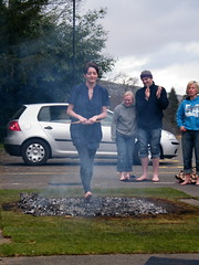 Fire walking, skills to build self confidence
