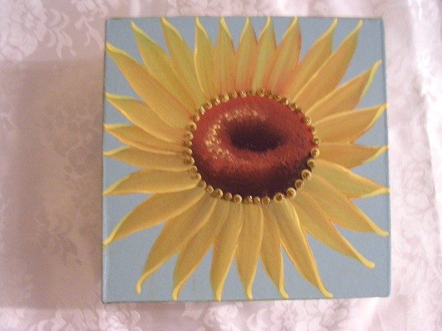 One Stroke Painting Sunflowers http://www.flickriver.com/photos/jadefantasyart/4575571500/