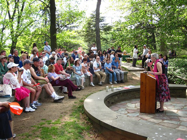 The Spring Street Haiku Group gives a poetry reading during Sakura Matsuri 2010.