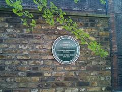 Photo of David Thompson green plaque
