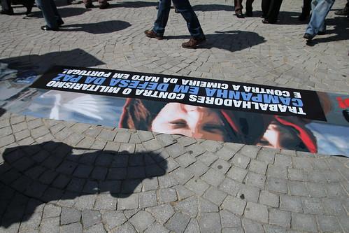 Anti-Nato banner