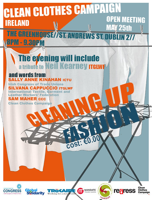 Clean Clothes Campaign Launch Poster | Flickr - Photo Sharing!