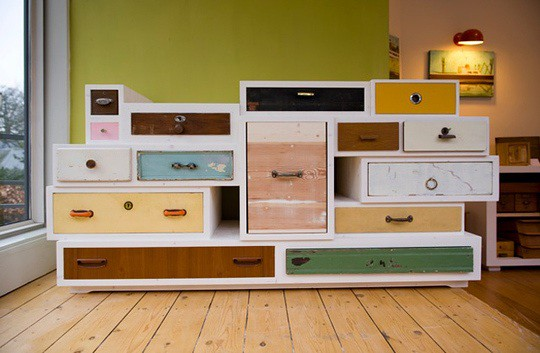repurposed drawers chest of diy