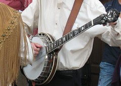 bassist(0.0), guitarist(0.0), guitar(0.0), bass guitar(0.0), plucked string instruments(1.0), string instrument(1.0), banjo(1.0), string instrument(1.0),