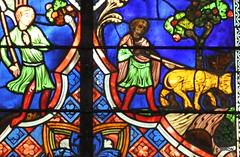 Détail du Vitrail de St-Louis - Cathédrale de Coutances - Manche - Basse Normandie