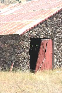 Stone barn door