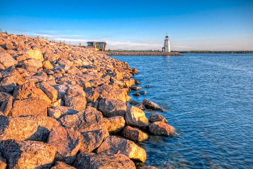 sunset lighthouse geotagged hdr oklahomacity lakehefner brandonwatts geo:lat=35566523 geo:lon=97577965 pwpartlycloudy