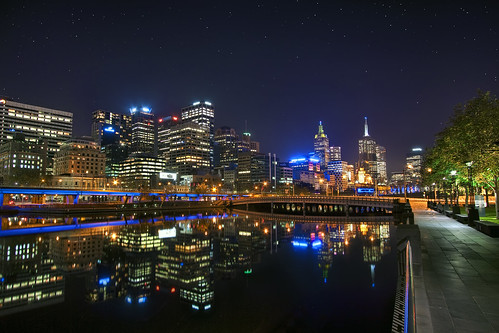 'Night Life' Australia, Melbourne, Skyline at Night | by WanderingtheWorld (www.ChrisFord.com)