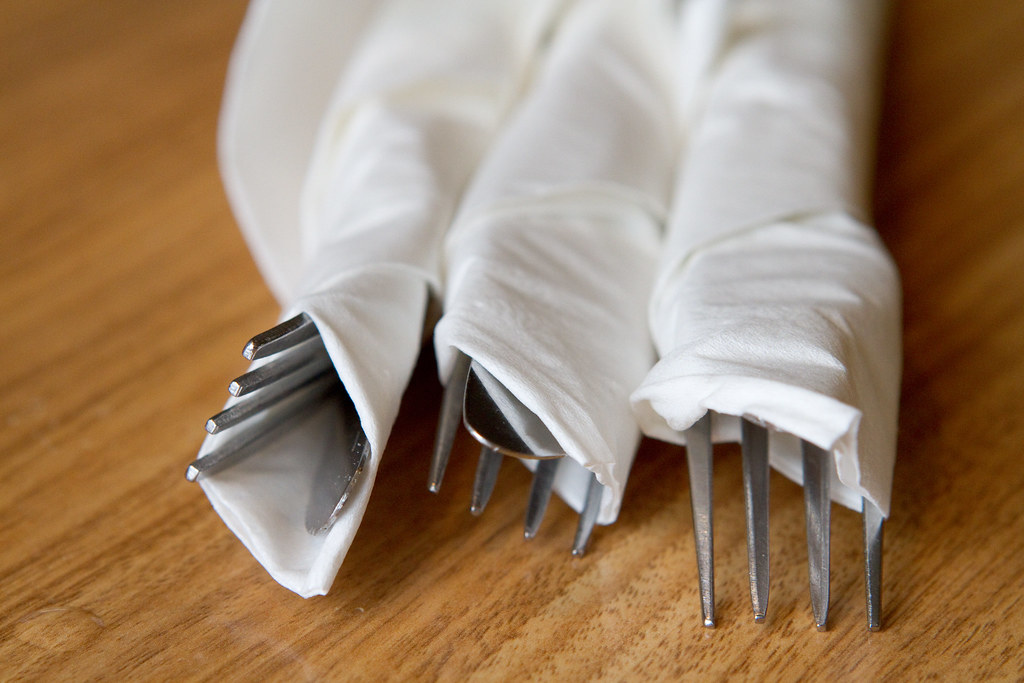 Wrap Silverware In Napkin