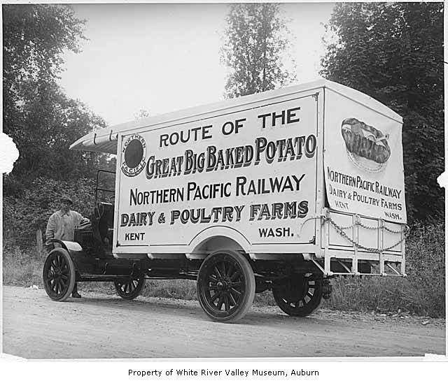 Northern Pacific Railway potato delivery truck, Kent, ca ...