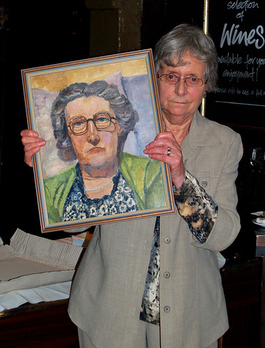 Jessie with Portrait of her Mother