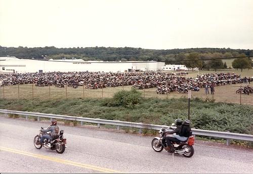 Outside Harley Plant, York, Pa. 1991