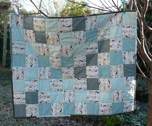 Baby boy quilt for baby JC