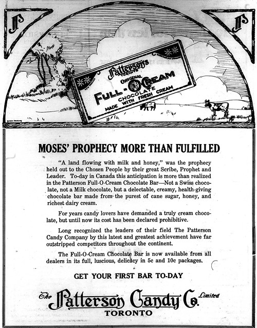 Vintage Ad #1,141: Chocolate Bar Fulfills Biblical Prophecy