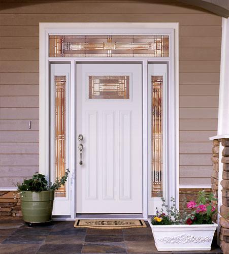Feather River Door Fiberglass Entry Doors Smooth White Door Sidelites